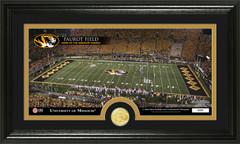 Missouri Faurot Field Photo with Bronze Coin Photo Mint