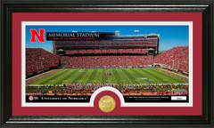 Nebraska Corn Huskers Bronze Coin Panoramic Photo Mint