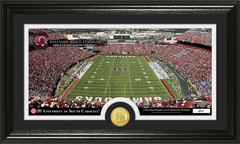 Williams-Brice Stadium Photo with Bronze Coin Photo Mint