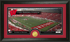 Camp Randall Stadium Photo with Bronze Coin Photo Mint