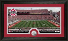 Ohio Stadium Photo with Bronze Coin Photo Mint