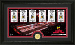 Chicago Blackhawks Championship Banners Tradition Framed Picture