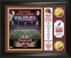 Florida State 2013 BCS National Champions Banner Gold Coin Photo Mint