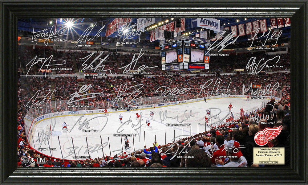 Detroit Red Wings Signature Framed Picture
