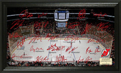 New Jersey Devils Signature Framed Picture