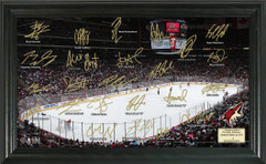 Arizona Coyotes Signature Framed Picture