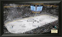 San Jose Sharks Signature Framed Picture