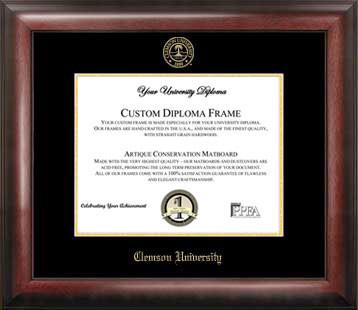 Clemson University Gold Embossed Diploma Frame
