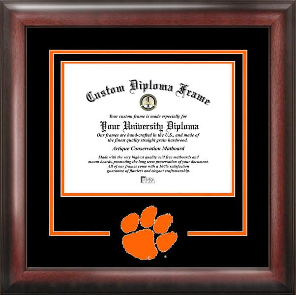 Clemson University Spirit Diploma Frame