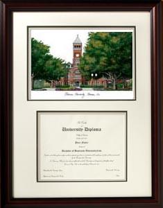 Clemson University Scholar Diploma Frame