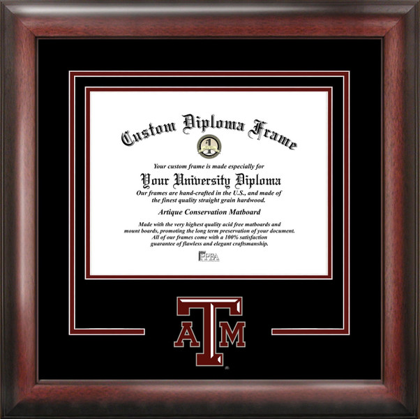 Texas A&M University Spirit Diploma Framing