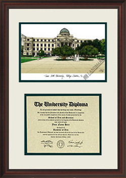 Texas A&M University Scholar Diploma Frame