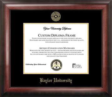 Baylor University Gold Embossed Diploma Frame