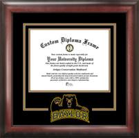Baylor University Spirit Diploma School Logo Frame