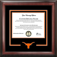 University of Texas Spirit Diploma Longhorn Logo Frame
