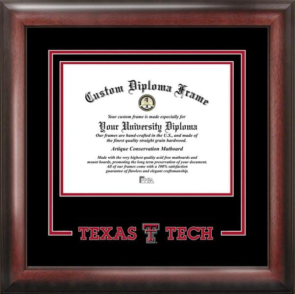Texas Tech University Spirit Diploma Framing