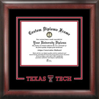 Texas Tech University Spirit Diploma Framing