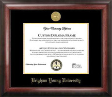Brigham Young University Gold Embossed Diploma Framing
