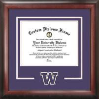University of Washington Spirit Diploma School Logo Frame