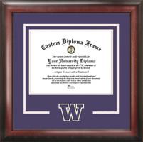 University of Washington Spirit Diploma School Logo Frame