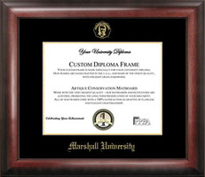 Marshall University Gold Embossed Diploma Framing