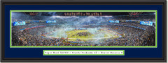 Seattle Seahawks Super Bowl XLVIII Framed Picture Double Mat and Black Frame