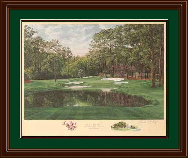Augusta 16th Hole Redbud Limited Edition Framed Art Print