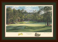 Golden Bell 12th hole Augusta National framed limited edition art print