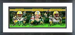 AAMV108 Aaron Rodgers, Greg Jennings, & Donald Driver 2010 Panoramic