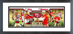 "AANF141 Joe Montana & Jerry Rice 12""x36"" Photoramic"