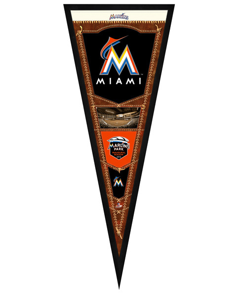 Miami Marlins Framed Pennant
