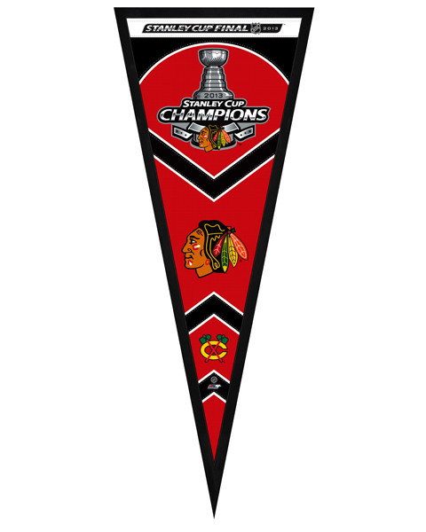 Chicago Blackhawks 2013 NHL Stanley Cup Champions Framed Pennant