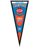 Oklahoma City Thunder 2012 NBA Western Conference Champions Framed Pennant