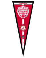 University of Alabama Crimson Tide 2013 BCS National Champions Back-To-Back Framed Pennant