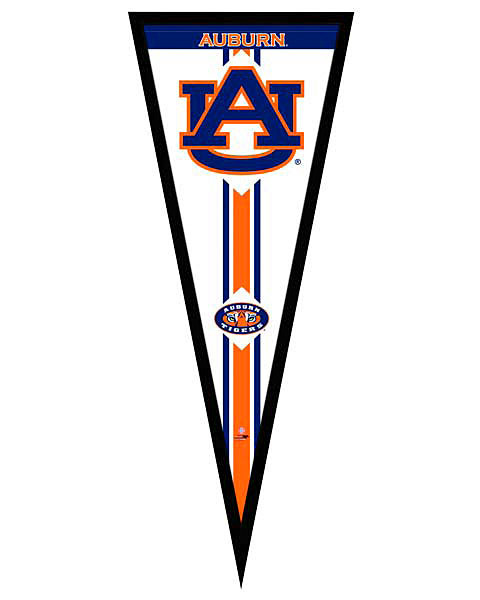 Auburn Tigers Framed Pennant Graphic