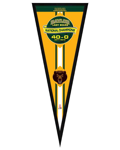 Baylor University Lady Bears 2012 NCAA Women's National Champions Framed Pennant