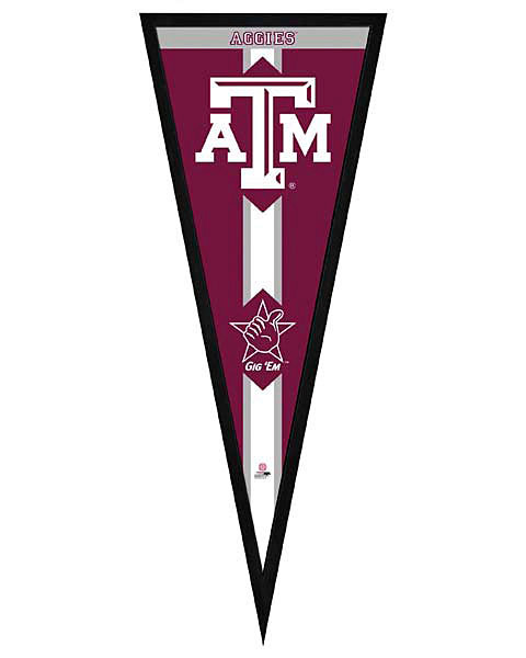 Texas A&M Aggies Framed Pennant Graphic