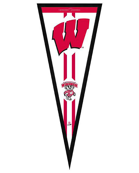 Wisconsin Badgers Pennant Frame