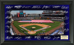 Colorado Rockies Team Signature Framed Picture