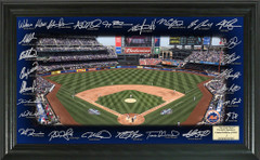 New York Mets Team Signature Framed Picture