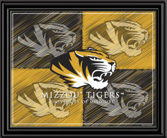 Missouri Tigers Block Logo Framed Picture