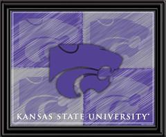 Kansas State Block Logo Framed Picture