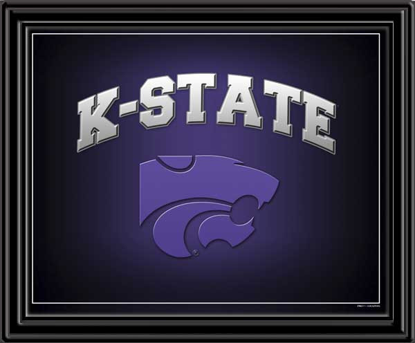 K State Wildcats Fan Mascot Framed Picture