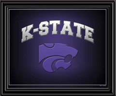 K-State WIldcats Fan Logo Framed Picture