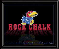 Rock Chalk KU Framed Picture