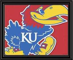 KU Jaykawks Mascot Framed Picture