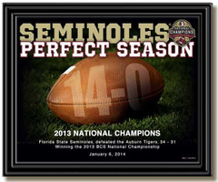 Florida State Seminoles Perfect Season Framed Picture