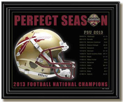 FSU Seminoles Perfect Season Schedule Framed Picture