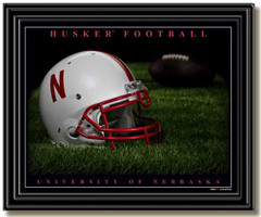 Nebraska Husker Football Framed Picture