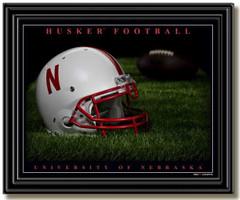 Nebraska Husker Football Framed Picture